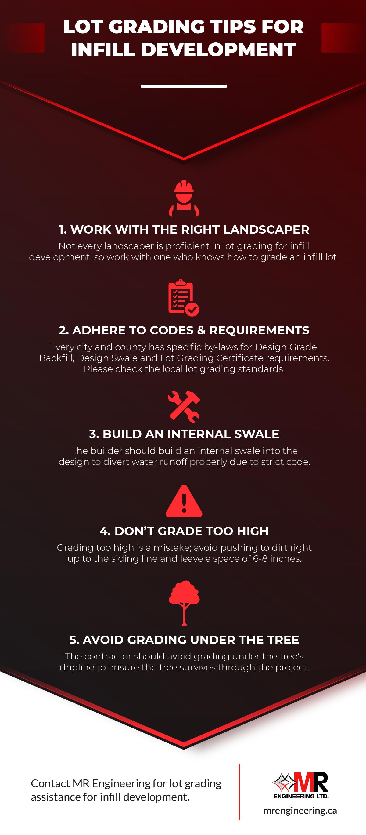 Lot Grading Tips For Infill Development