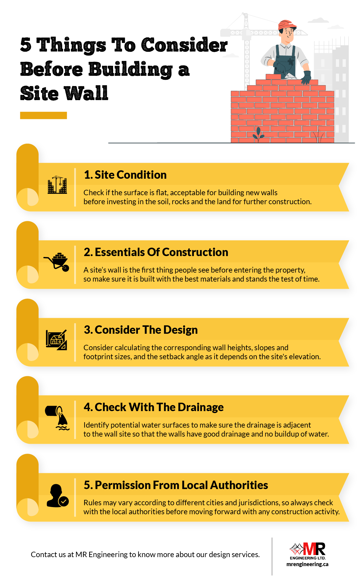 5 Things To Consider Before Building a Site Wall